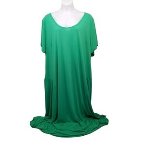 Jessica London 36 Dress Long Stretch Kelly Green